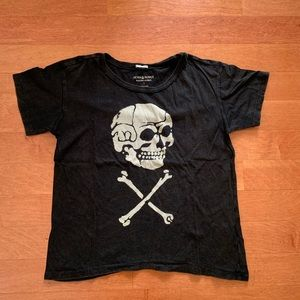ralph lauren skull black t good for easy halloween